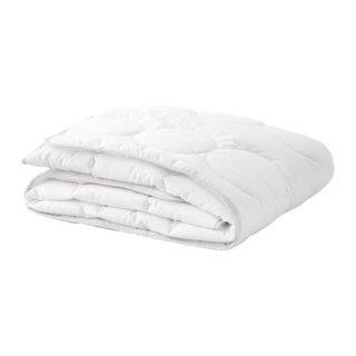 IKEA イケア 掛け布団 ベビーベッド用 ホワイト グレー 125x110cm z50373059 LENAST