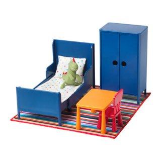 IKEA イケア ミニチュア家具 ベッドルーム a70292260 HUSET