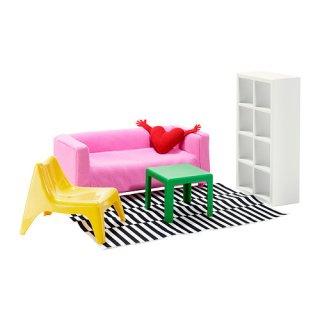 IKEA イケア HUSET ミニチュア家具 リビングルーム a30235511
