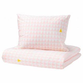 IKEA イケア 掛け布団カバー&枕カバー ライトピンク E00358669 STILLSAMT