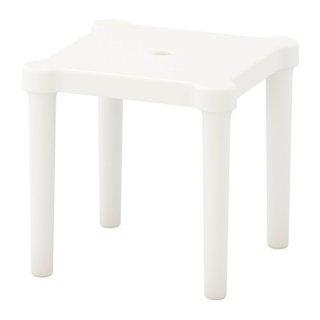 IKEA イケア 子供用スツール 室内/屋外用 ホワイト z30357786 UTTER