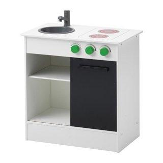 IKEA イケア NYBAKAD おままごとキッチン 引き戸付き ホワイト n50306022