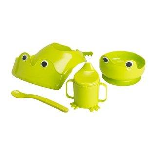 IKEA イケア MATA 食器4点セット グリーン 70135595