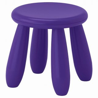 IKEA イケア 子ども用スツール 室内 屋外用 ダークライラック n50382327 MAMMUT