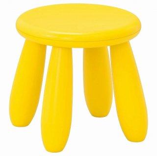 IKEA イケア 子ども用スツール 室内 屋外用 イエロー n90382325 MAMMUT