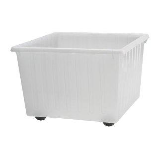 IKEA イケア 収納クレート キャスター付 ホワイト c70104462 VESSLA