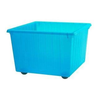 IKEA イケア 収納クレート キャスター付 ブルー c50104463 VESSLA