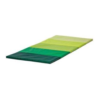 IKEA イケア 折りたたみ式ジムマット グリーン b90262832 PLUFSIG