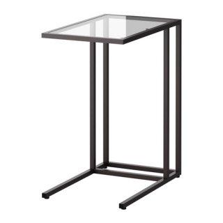 IKEA イケア VITTSJO ラップトップスタンド デスク ガラス ブラックブラウン a80250250