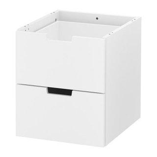 IKEA イケア NORDLI ノールドリ モジュール式チェスト(引き出し×2) ホワイト z80355657