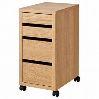 IKEA イケア MICKE ミッケ 引き出しユニット キャスター付き オーク調 z50395056