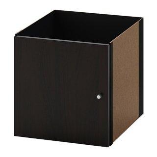 IKEA イケア KALLAX カラックス インサート 扉 ブラックブラウン z50351887