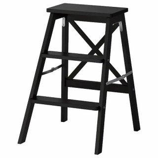 IKEA イケア BEKVAM 踏み台 3段 ブラック a70219830