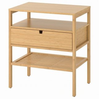 IKEA イケア ベッドサイドテーブル 竹 40x60cm n40439466 NORDKISA