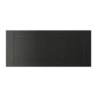 IKEA イケア HANVIKEN 引き出し前部 - ブラックブラウン n40294798