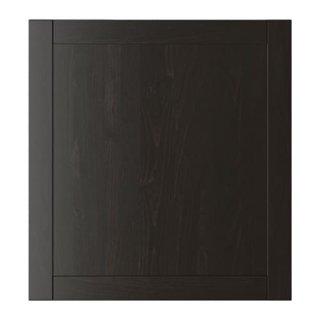 IKEA イケア 扉 ブラックブラウン 60x64 cm n30294794 HANVIKEN