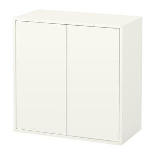 IKEA イケア EKET キャビネット 扉2/棚板1付き ホワイト b80333953