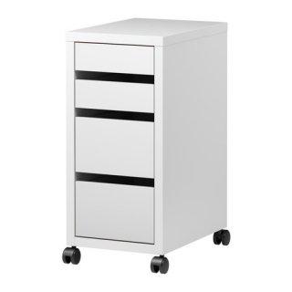 IKEA イケア MICKE 引き出しユニット キャスター付き ホワイト a40354283