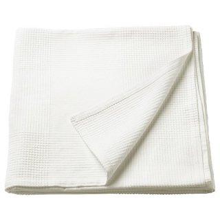 IKEA イケア ベッドカバー ホワイト シングル INDIRA 40191757
