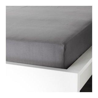 IKEA イケア ボックスシーツ カバー グレー ダブル 140x200cm d70336952 ULLVIDE