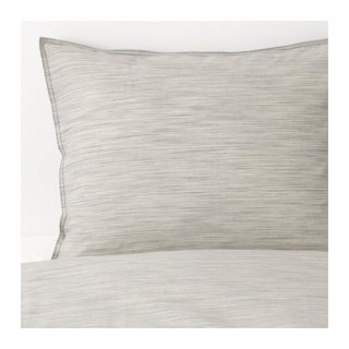 IKEA イケア 掛け布団カバー&枕カバー2枚 ベージュ ダブルサイズ d50337491 SKOGSALM