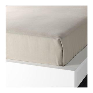 IKEA イケア シーツ ベージュ シングル 150x260cm 80182505 DVALA