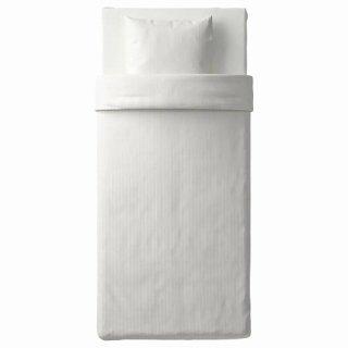 IKEA イケア 掛け布団カバー&枕カバー ホワイト シングル d80337178 NATTJASMIN