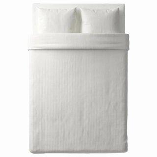 IKEA イケア 掛け布団カバー&枕カバー2枚 ホワイト ダブルサイズ d40337161 NATTJASMIN
