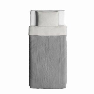 IKEA イケア 掛け布団カバー&枕カバー グレー シングル z60328085 BLAVINDA