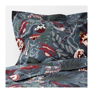 IKEA イケア 掛け布団カバー&枕カバー フローラルパターン シングル z10412557 FILODENDRON
