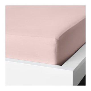 IKEA イケア ボックスシーツ ライトピンク ダブル 140x200cm z20357659 DVALA
