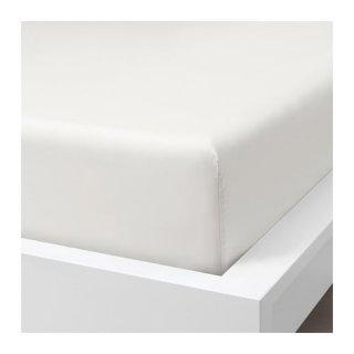 IKEA イケア ボックスシーツ ホワイト クイーン 160x200cm z20412806 SOMNTUTA