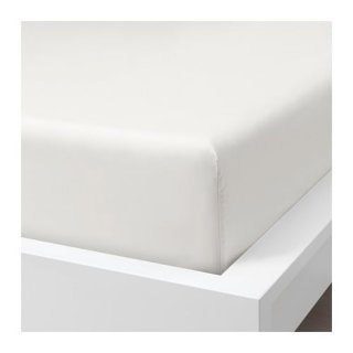 IKEA イケア ボックスシーツ ホワイト ダブル 140x200cm z90412803 SOMNTUTA