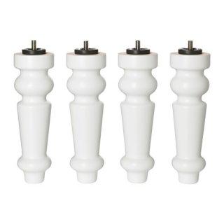 IKEA イケア 脚 ベッド用 ホワイト BRATTVAG d90309740