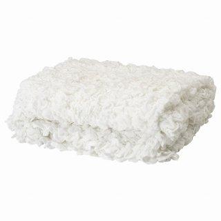 IKEA イケア OFELIA 毛布 130x170cm ホワイト ベッドカバー シングル d60173856