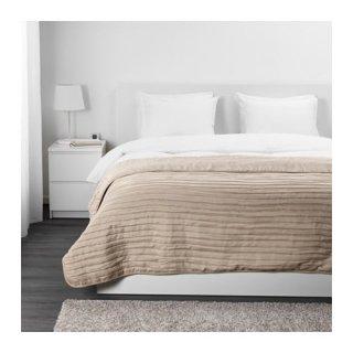 IKEA イケア ベッドカバー ダブル ベージュ 250cmx260cm VEKETAG z10381933