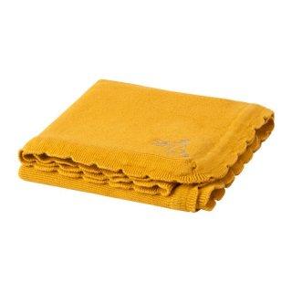 IKEA イケア 毛布 綿 ベビー用 ダークイエロー 70x90cm  SOLGUL z60421253