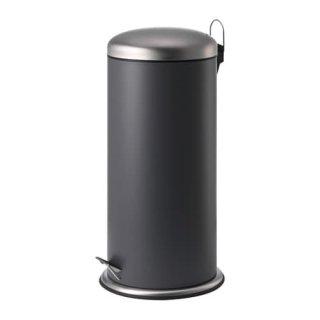 IKEA イケア MJOSA ペダル式ゴミ箱 ダークグレー 30L z70422855