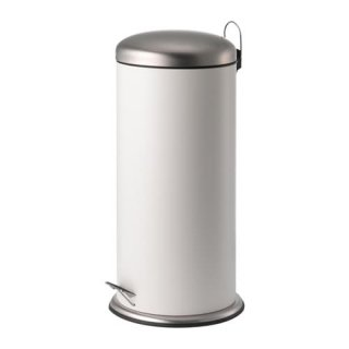 IKEA イケア MJOSA ペダル式ゴミ箱 30L ホワイト n10422863