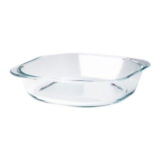 IKEA イケア オーブン皿 24.5x24.5cm クリアガラス FOLJSAM d30311270