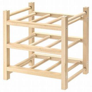 IKEA イケア ワインラック 9本用 無垢材 a70179594 HUTTEN