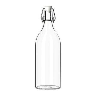 IKEA イケア KORKEN ボトル ふた付き クリアガラス a00213558