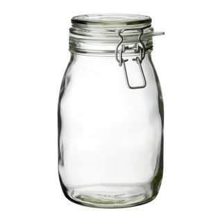 IKEA イケア KORKEN ふた付き容器 クリアガラス a50213551