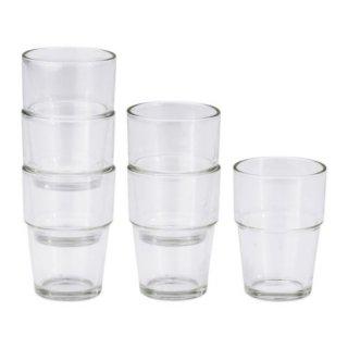 IKEA イケア REKO グラス クリアガラス / 6 ピース d20137851