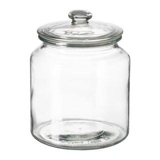 IKEA イケア VARDAGEN ふた付き容器 クリアガラス d60291925