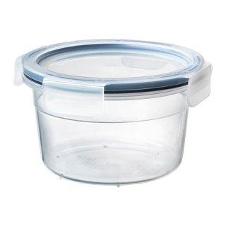 IKEA イケア 保存容器 ふた付き 丸形 プラスチック 750ml z19269102 IKEA 365+