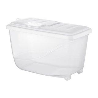 IKEA イケア KRITISK クリティスク 乾燥食品用容器 ふた付き ホワイト z90225566