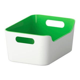 IKEA イケア VARIERA ボックス グリーン 70332015