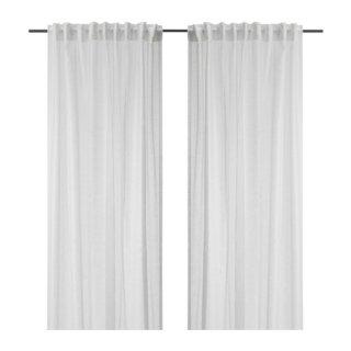 IKEA イケア シアーカーテン 長さ250cm×幅145cm 1組 ホワイト d20344290 ASKKLOCKA