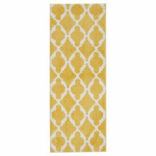 IKEA イケア キッチンマット イエロー ホワイト 120×45cm AUNING z90397303